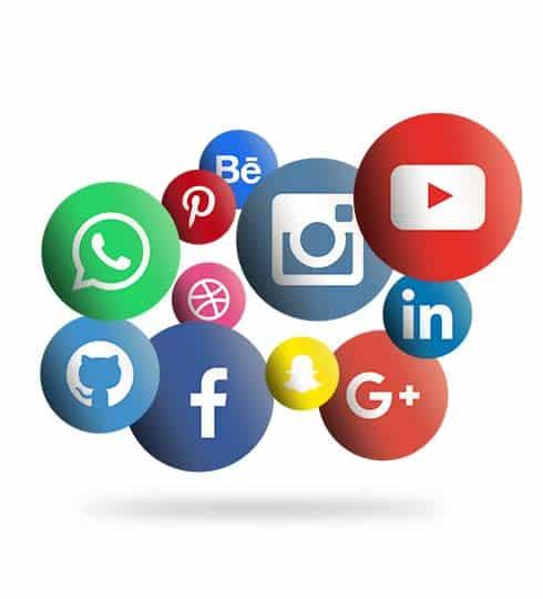 Algunas de las redes sociales actuales del mercado.