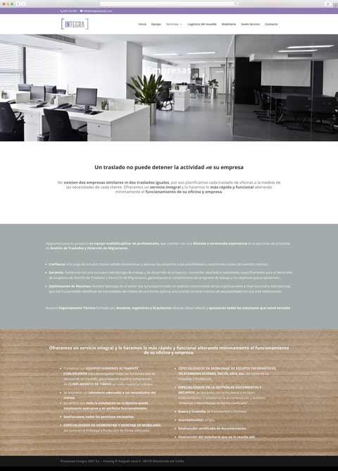 Muestra 2 del diseño web del proyecto Integra Serveis, realizado por La Publicidad Creativa y Just the web