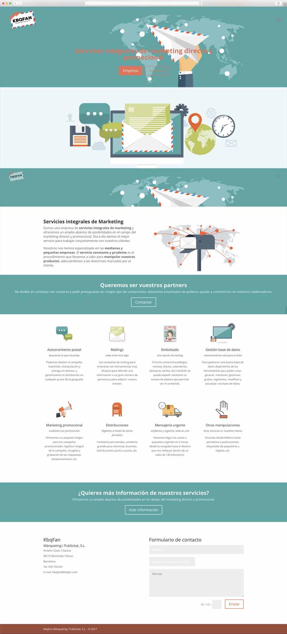 Muestra 1 del diseño web del proyecto Kbqfan, realizado por Núria Riera y Just the web