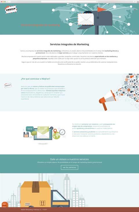 Muestra 2 de diseño web del proyecto Kbqfan, realizado por Núria Riera y Just the web