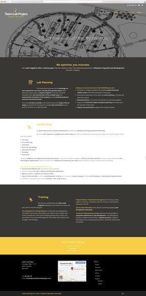 Muestra 3 del diseño web del proyecto Team Lab Project, realizado por Just the web y Byte Imatge