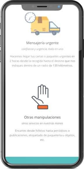 Muestra del diseño web de la página web en versión móvil del proyecto Kbqfan, realizado por Just the web y Byte Imatge