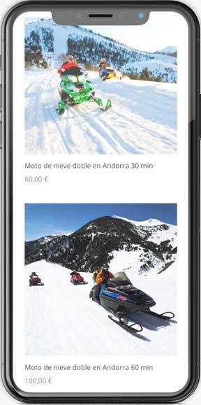 Muestra de la página web en versión móvil del proyecto Mushing Pirineus, realizado por Just the web