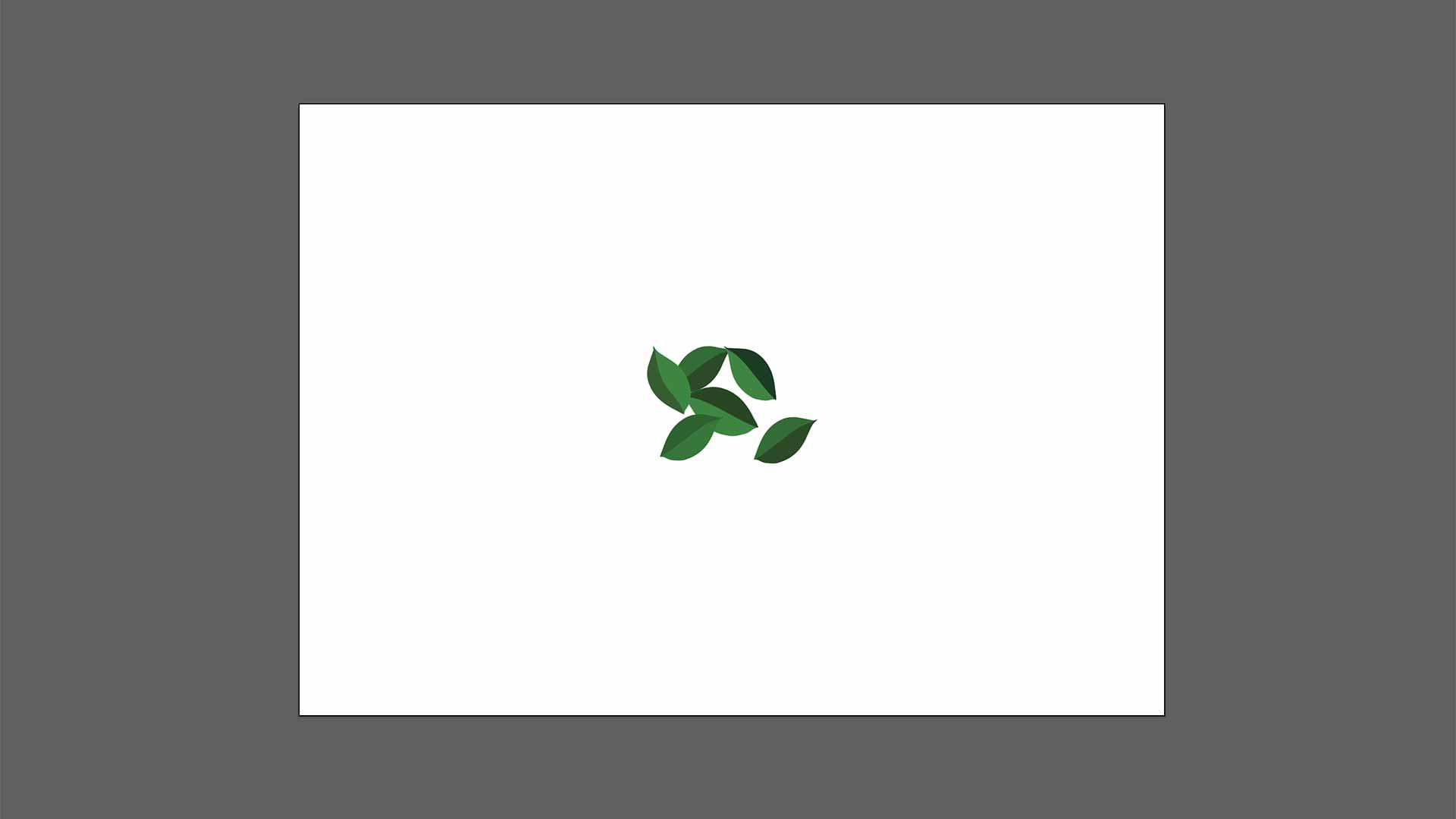 Ilustración de hojas para crear pinceles en Adobe Illustrator
