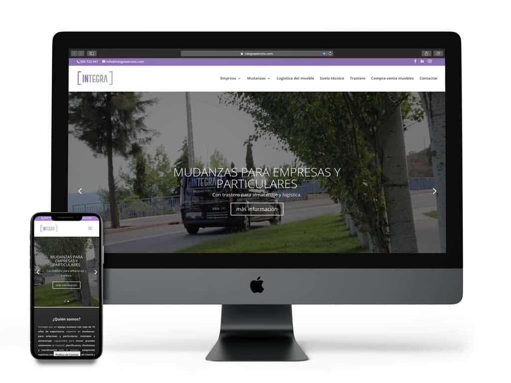 Visualización del proyecto Integra serveis en diferentes dispositivos