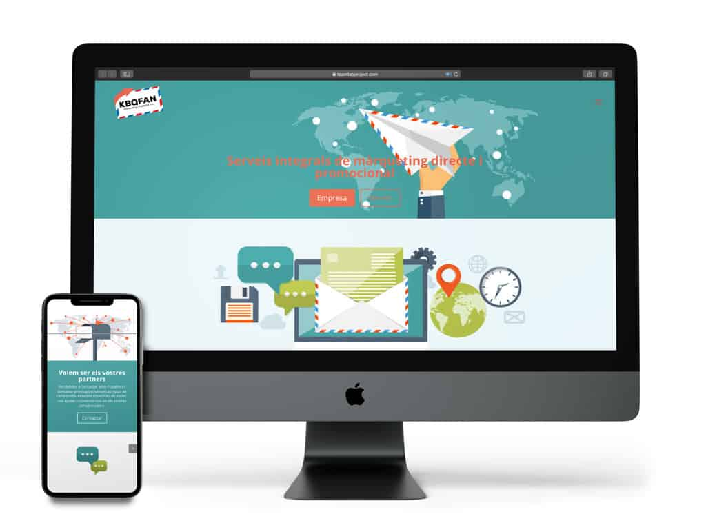 Visualización del proyecto Kbqfan en diferentes dispositivos