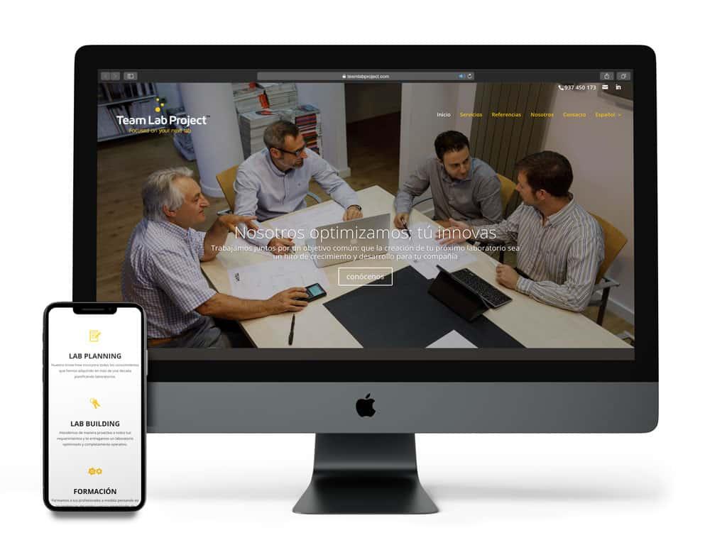 Visualización del proyecto Team Lab Project en diferentes dispositivos